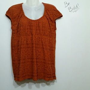 Axcess orange lace shirt size XL used